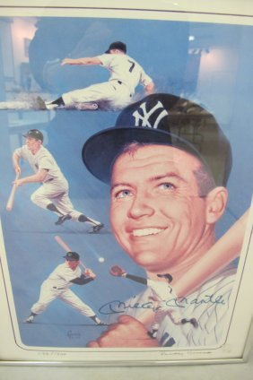 Autograph Signature, Mickey Mantle, On A Character