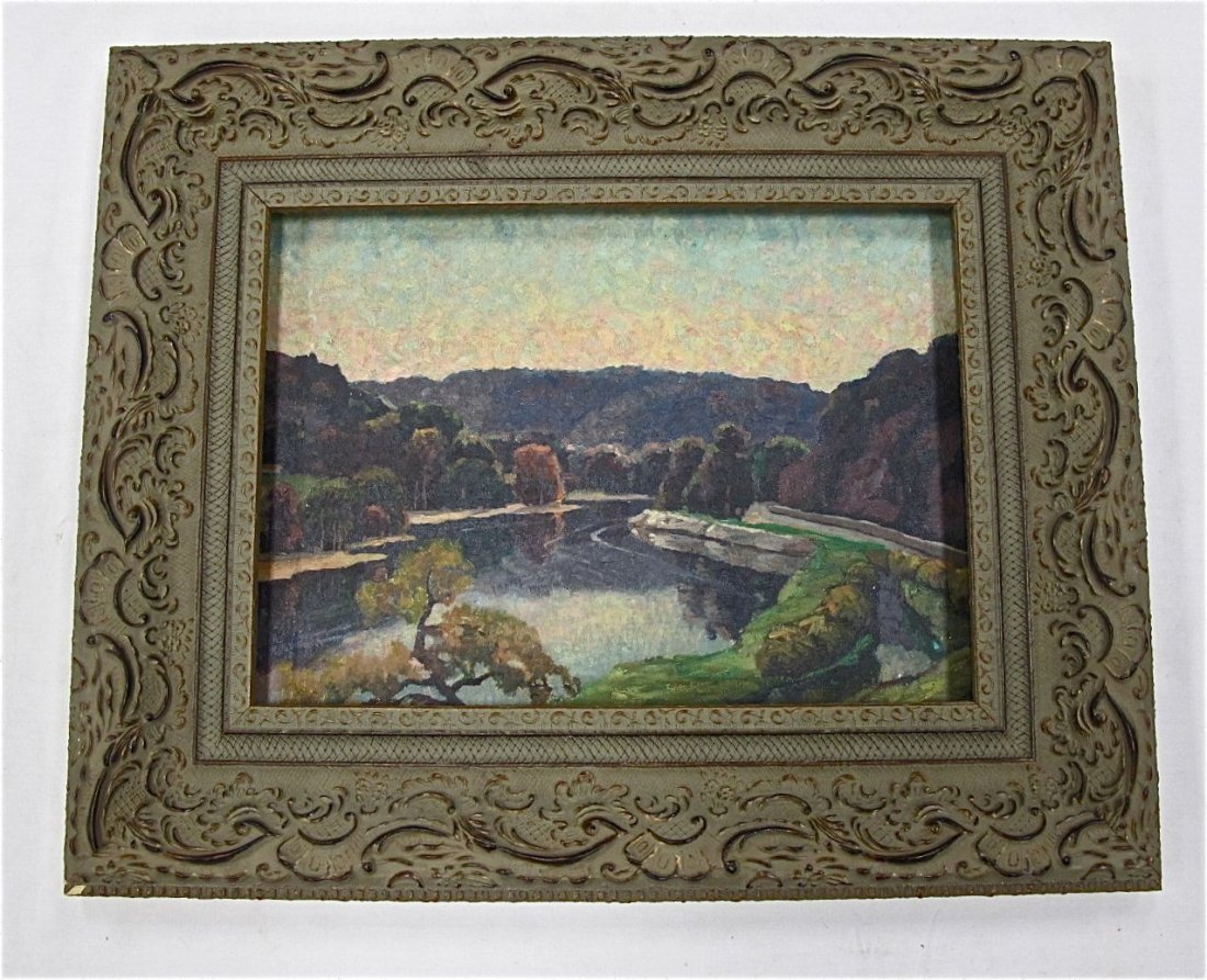 104: The Delaware River by George Jensen, Oil on Canvas