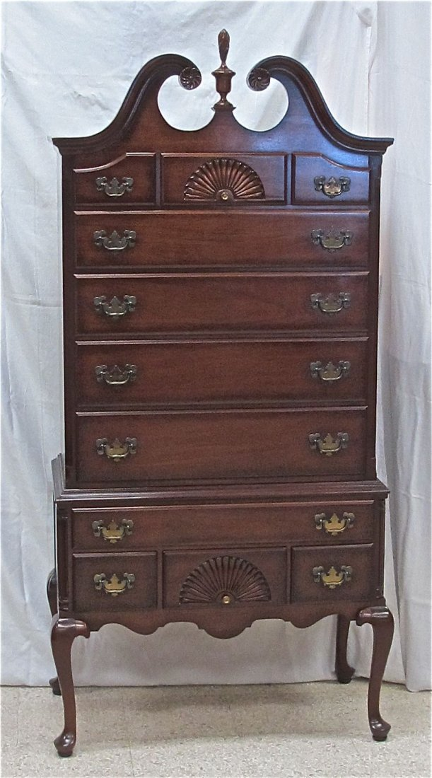 118: Chippendale Mahogany Highboy