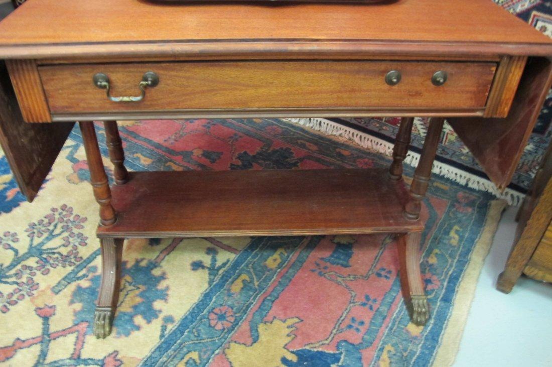 206: Side Panel Drop Leaf Desk w/ Serpentine Feet