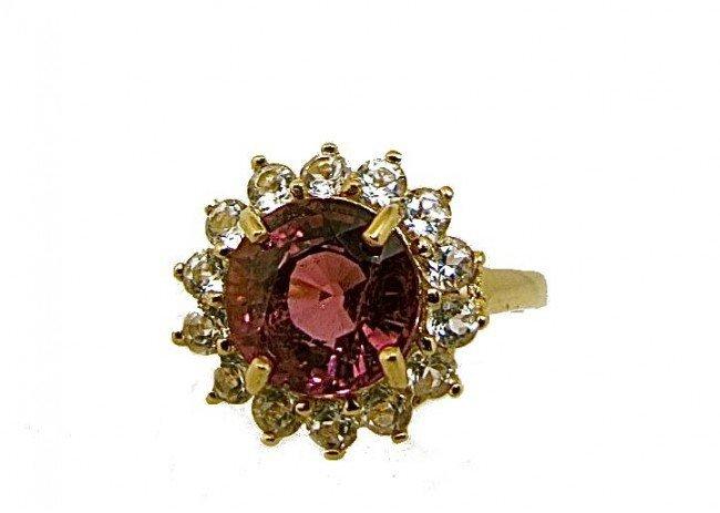 6: 10K Yellow Gold Pink Tourmaline Ring