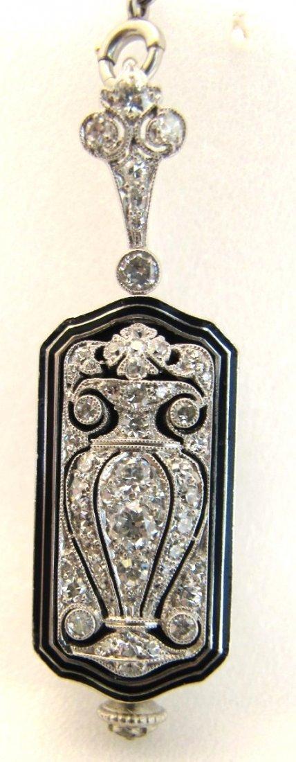 180: Art Deco Platinum Tiffany & Co. Enamel And Diamond