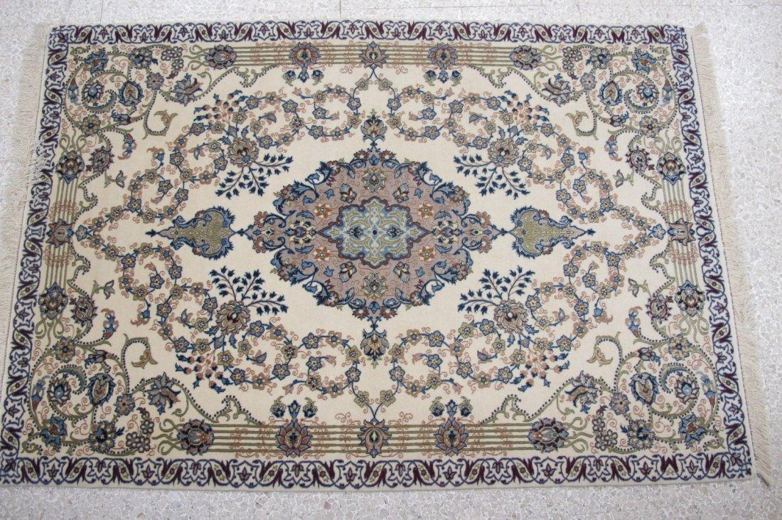 192: Noble Silk & Wool Isfahan, Iran 5.4x3.8