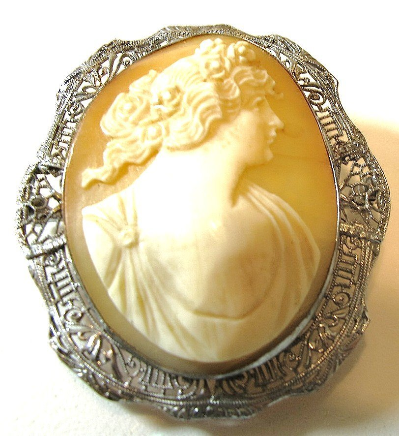 3: Sterling Cameo Pin