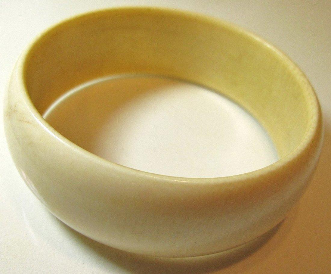16: Large Ivory Bangle Bracelet