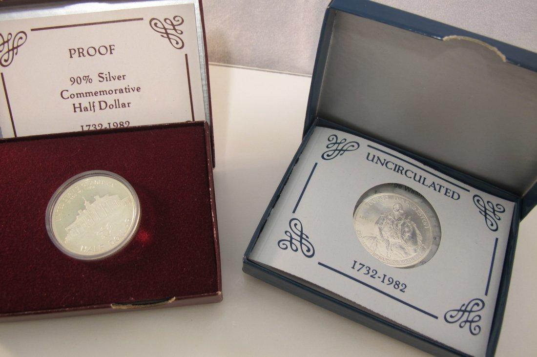 5: Two 1982 George Washington Commemorative Half Dollar