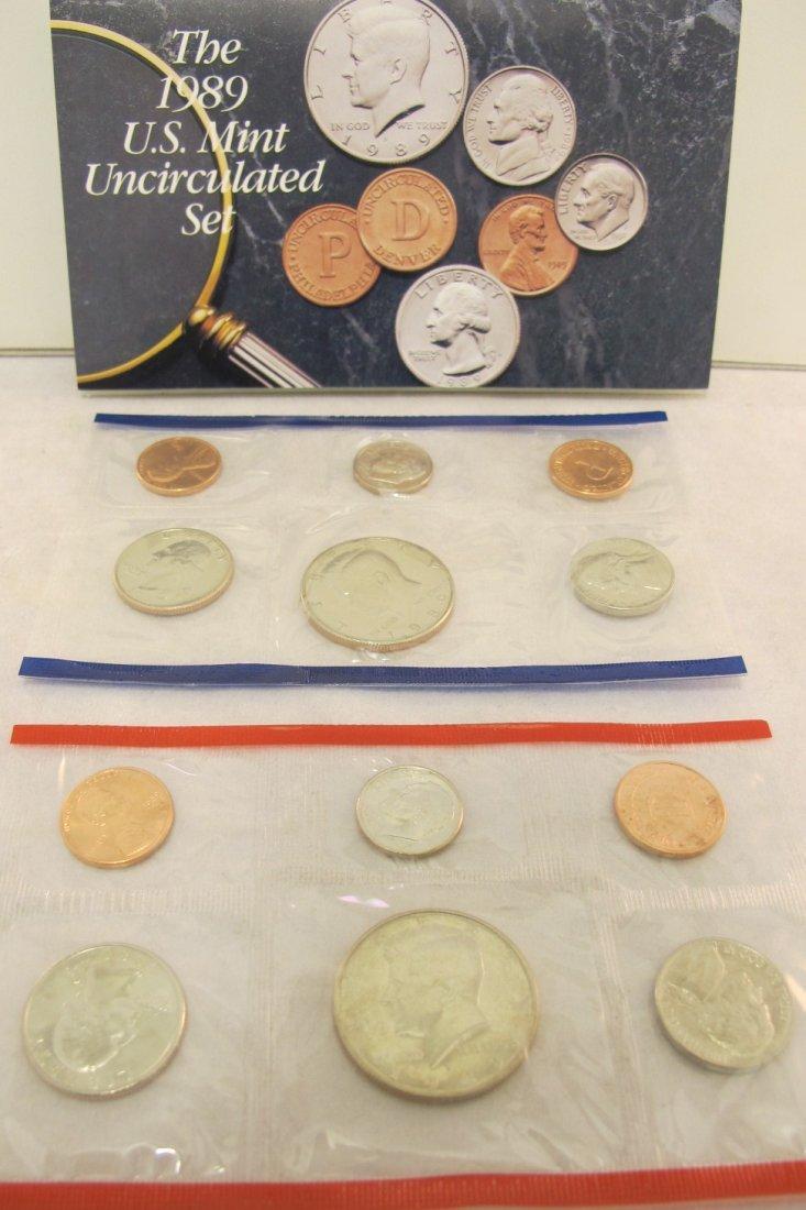 9: Five U.S. Mint Sets 1984, 1985, 1987, 1988, 1989
