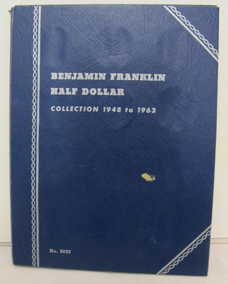 18: Blue Folder with Twenty-Seven Franklin Half Dollars