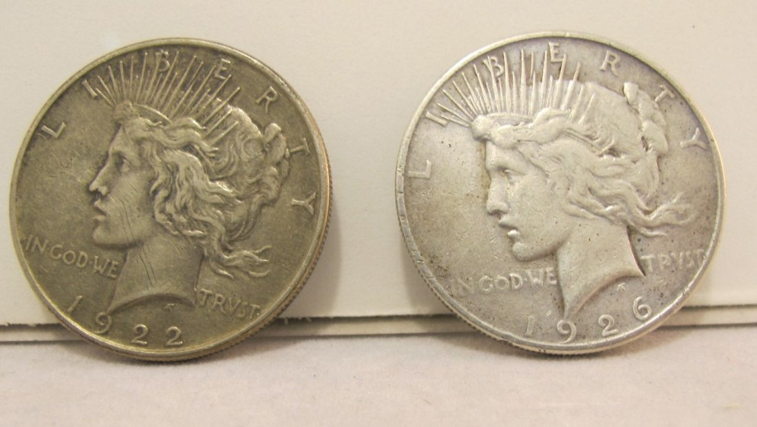 20: 1922 & 1926S Peace Dollars