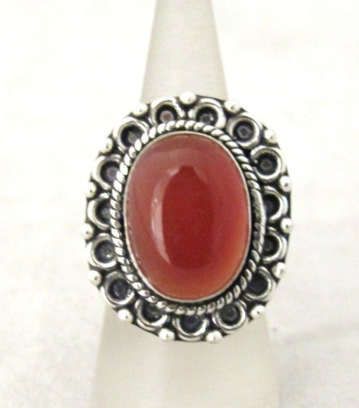 6: German Silver And Carnelian Ring