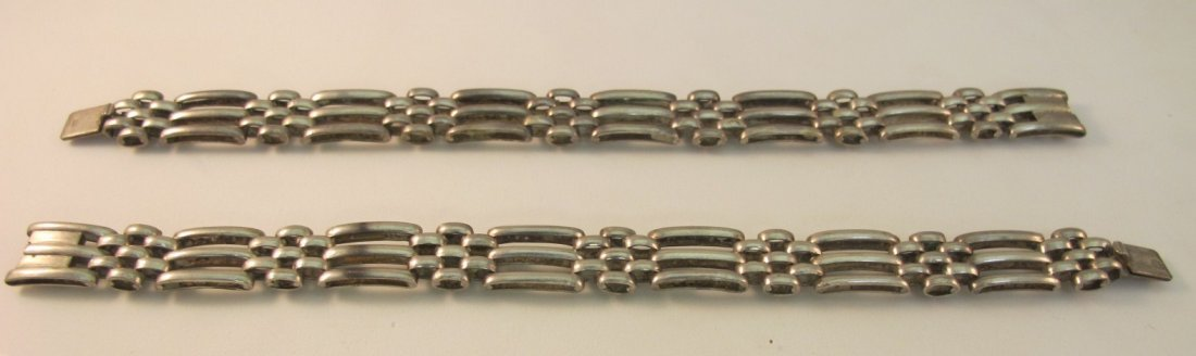 16: Two Sterling Silver Link Bracelets