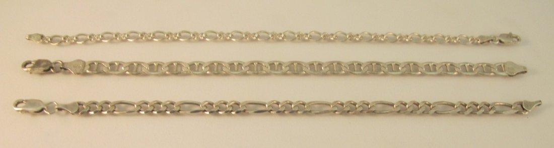 20: 3 Sterling Silver Bracelets