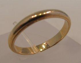 14K Yellow Gold Band, 2.44dwt