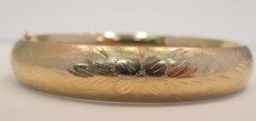 14K Yellow Gold Bangle Bracelet, 7.60dwt