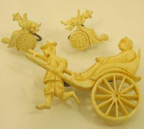 Ivory Pin & Earrings Set