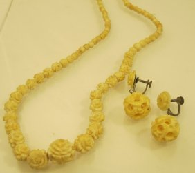 Ivory Necklace & Earrings