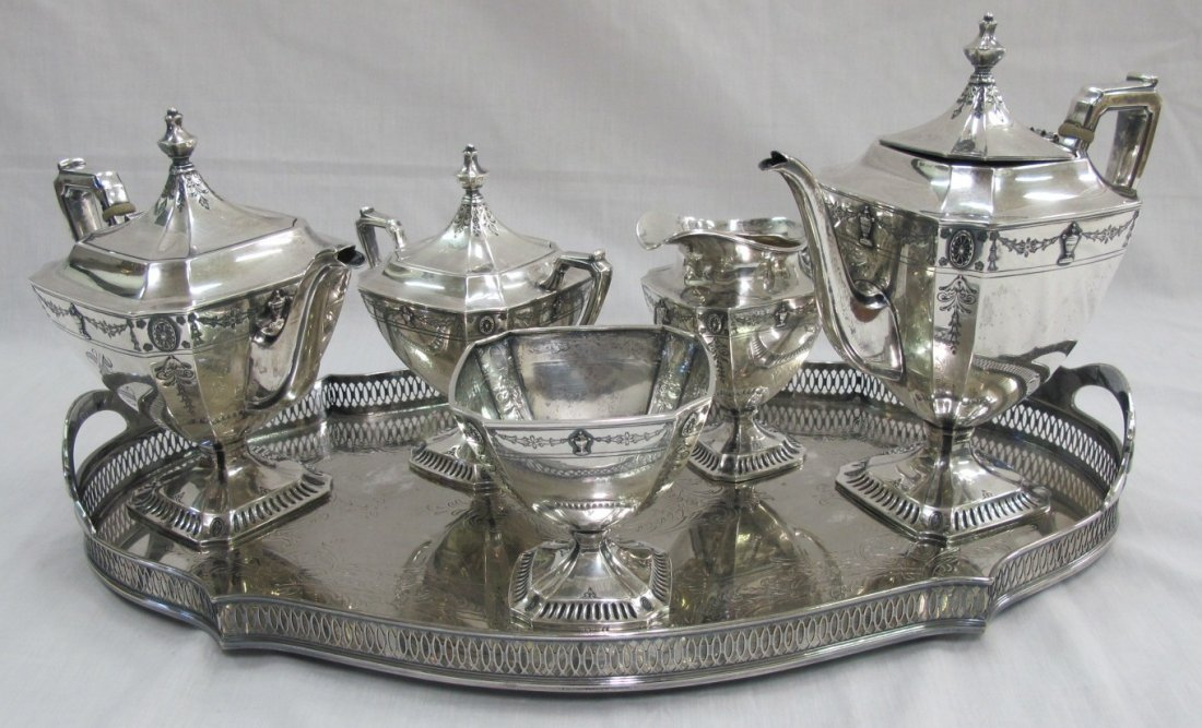 5 Piece Tea & Coffee Service Including Tea Pot, Coffee