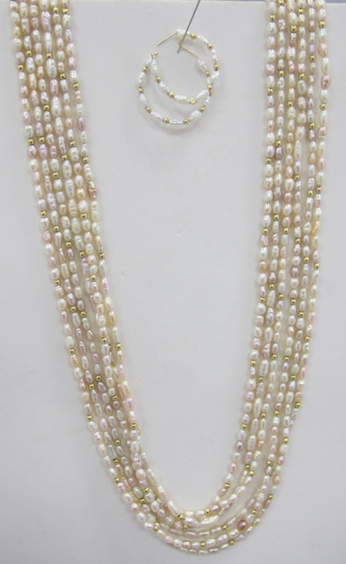 3 Matching Seed Pearl Necklaces