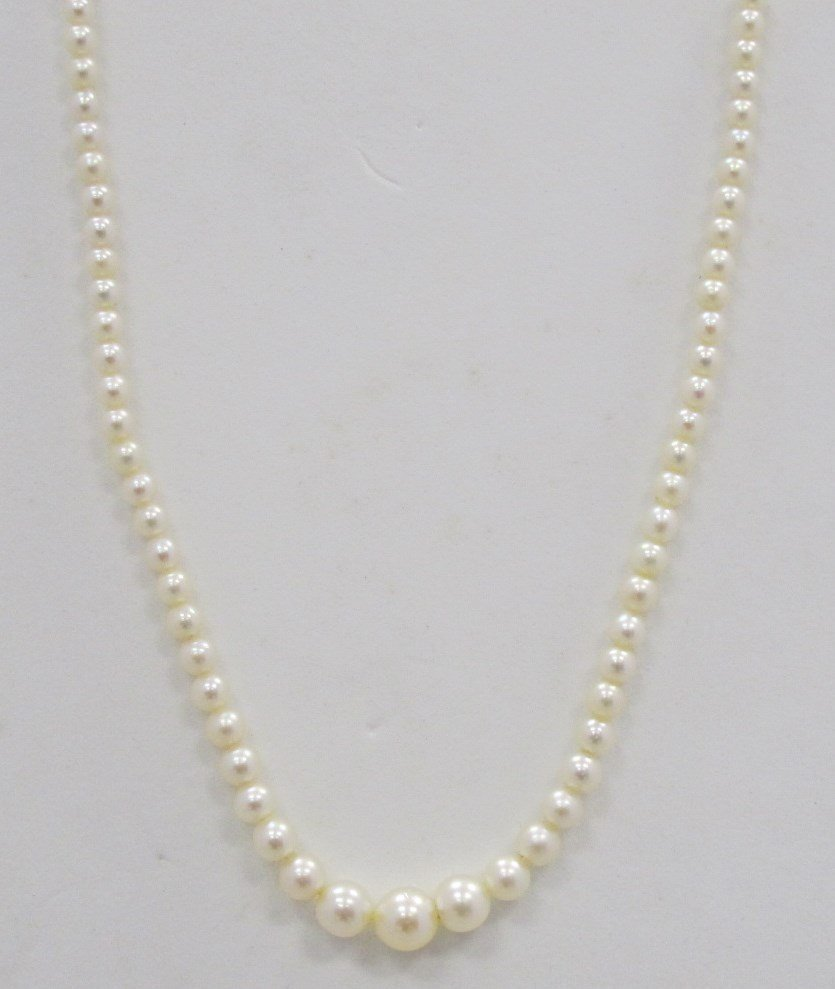 Cultured Pearl Necklace Measuring 7.5mm x 4.7mm x 3.6mm