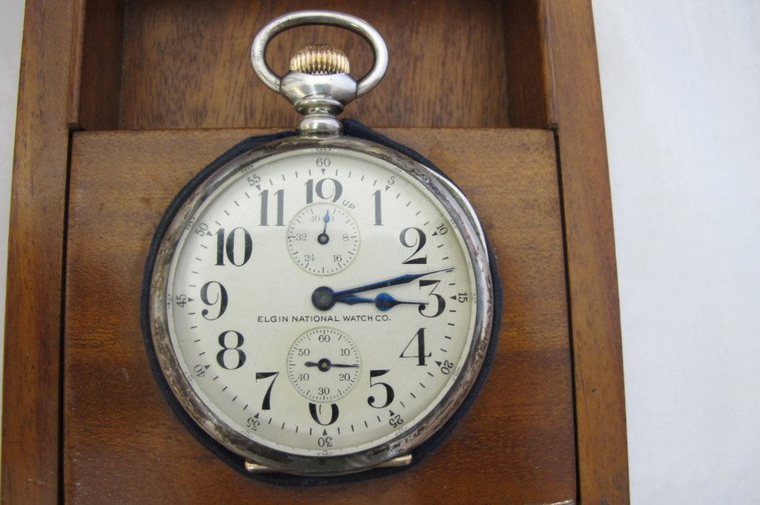 Elgin Watch Co. B.W. Raymond Pocket Watch, Up & Down In