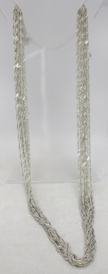 Kenneth Cole Ten Strand Silver Tone Necklace, 32""