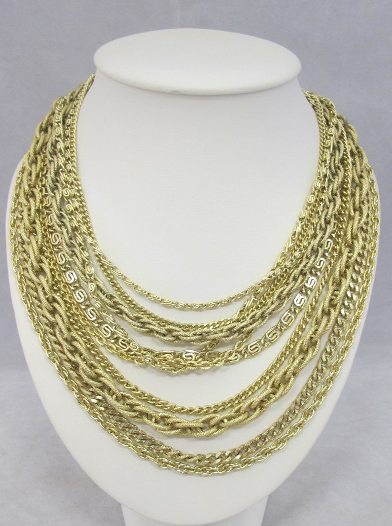 Ten Strand Gold Tone Fashion Necklace, 18""
