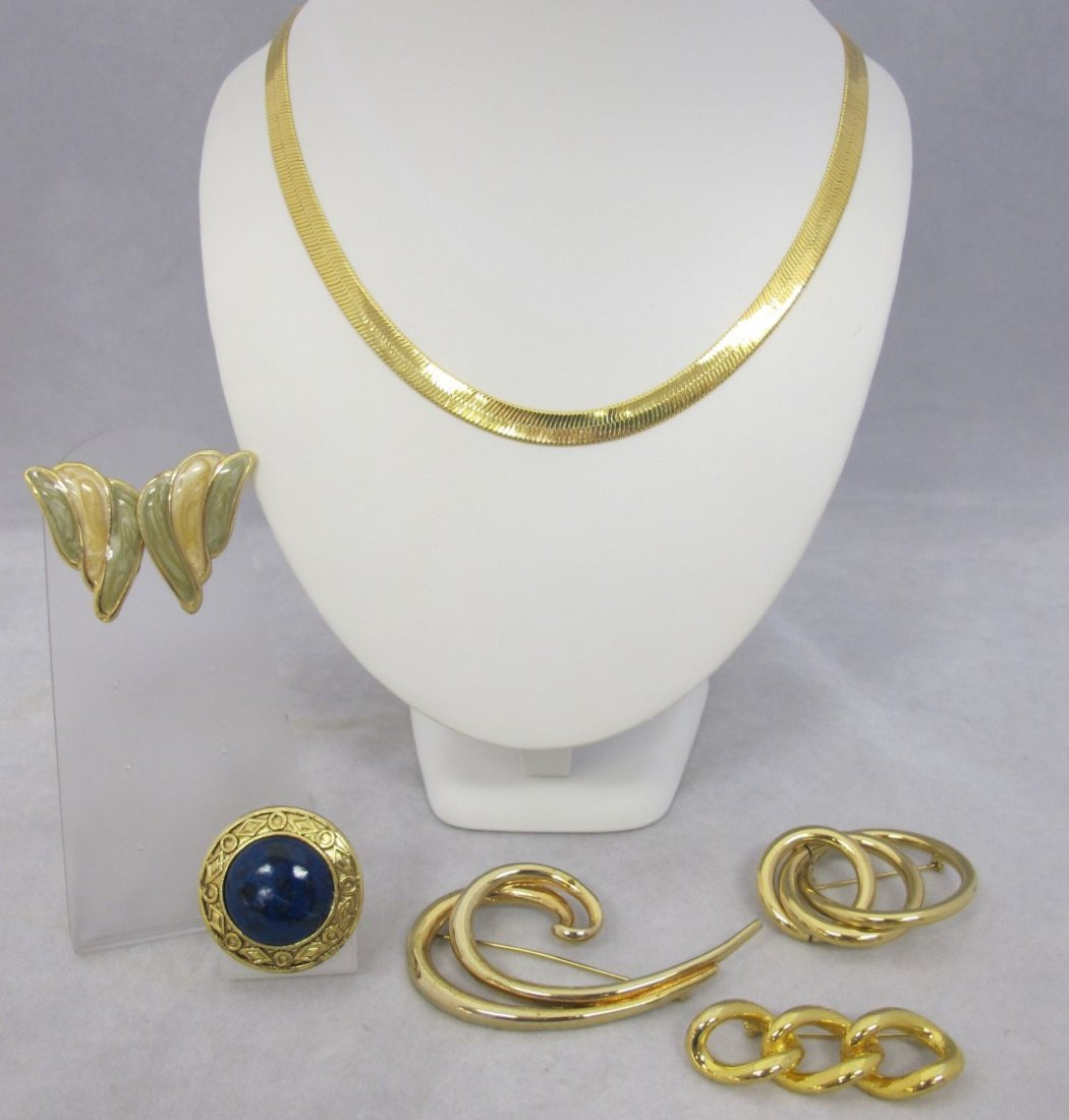 "Collection of Costume Jewelry to Include: 22"" Gold Tone"