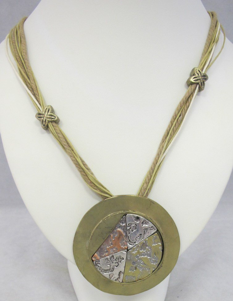 Fashion Medallion Necklace 26""