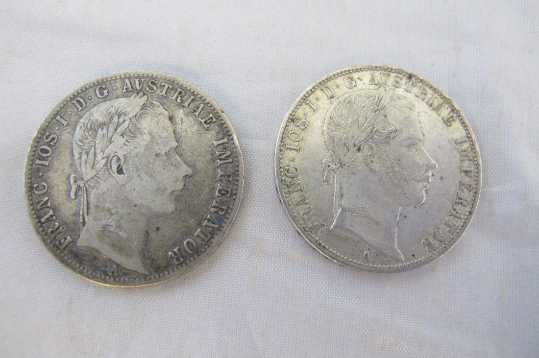 1860 & 1863 Austrian Francs Coins