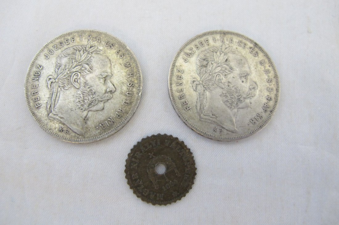 Three Hungarian Coins 1876, 1877 & 1894
