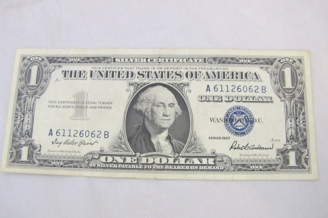 1957 One Dollar US Silver Certificate
