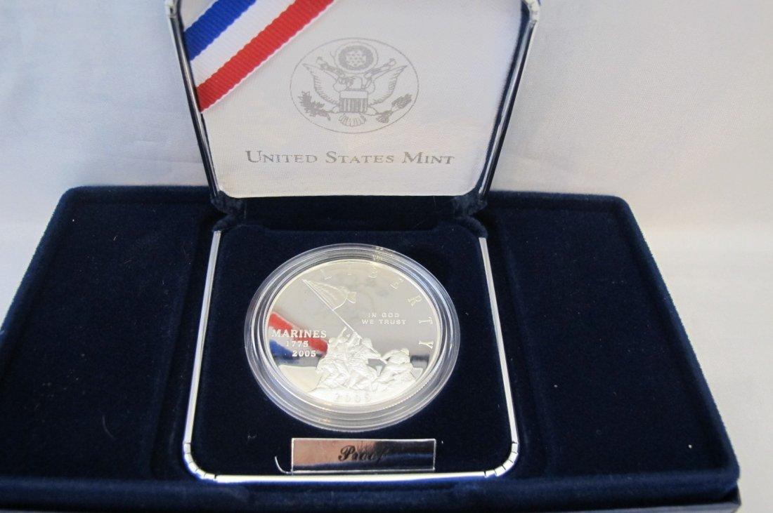 2005 Marine Corps 230th Anniversary Silver Dollar (90%