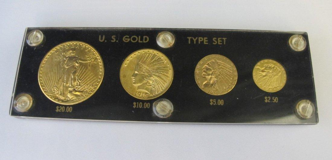 US Gold Type Set To Include 1928 Twenty Dollar Gold, 19