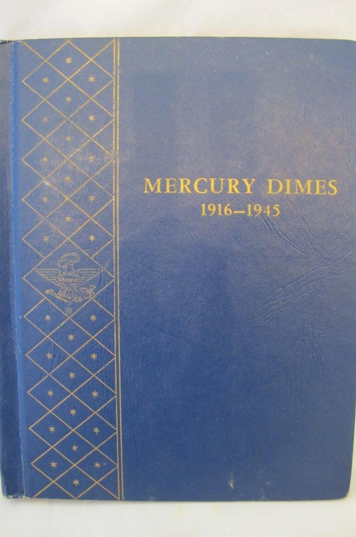 Blue Folder of Mercury Dimes 1916-1945 Complete Includi