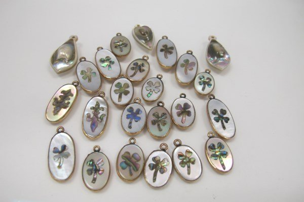 24 Mother of Pearl Buttons/Charms. The George A.