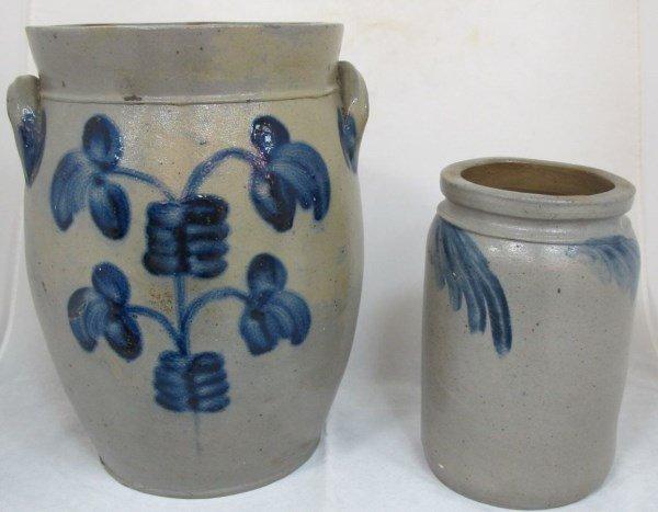 2 Antique Stoneware Crocks