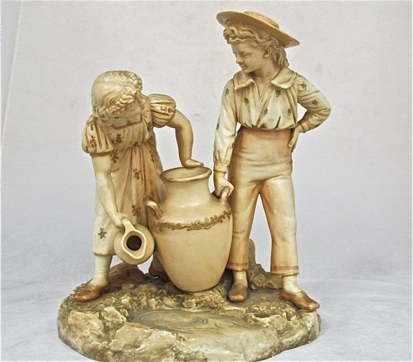 Hadley for Royal Worcester Porcelain Figural Group,