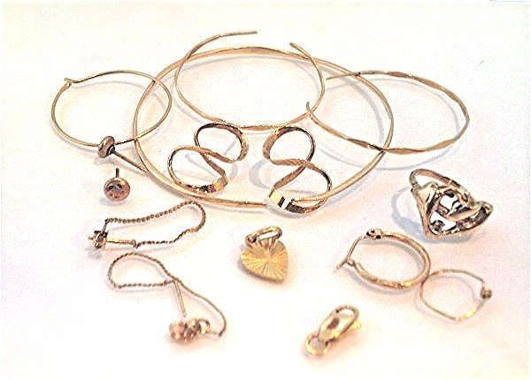 Miscellaneous 14K Yellow Gold 1.92dwt and 10K Yellow