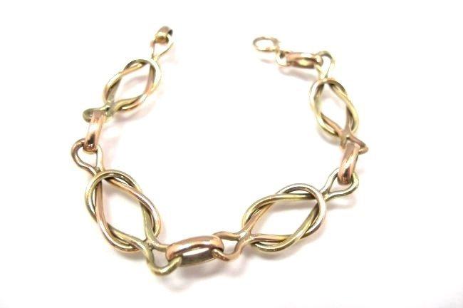 14K Yellow Gold & Rose Gold Link Bracelet, 11.98dwt