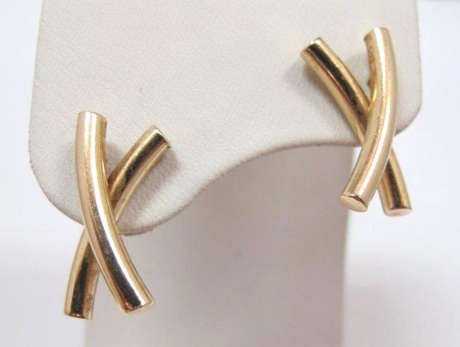 14K Yellow Gold Earrings, 1.40dwt.