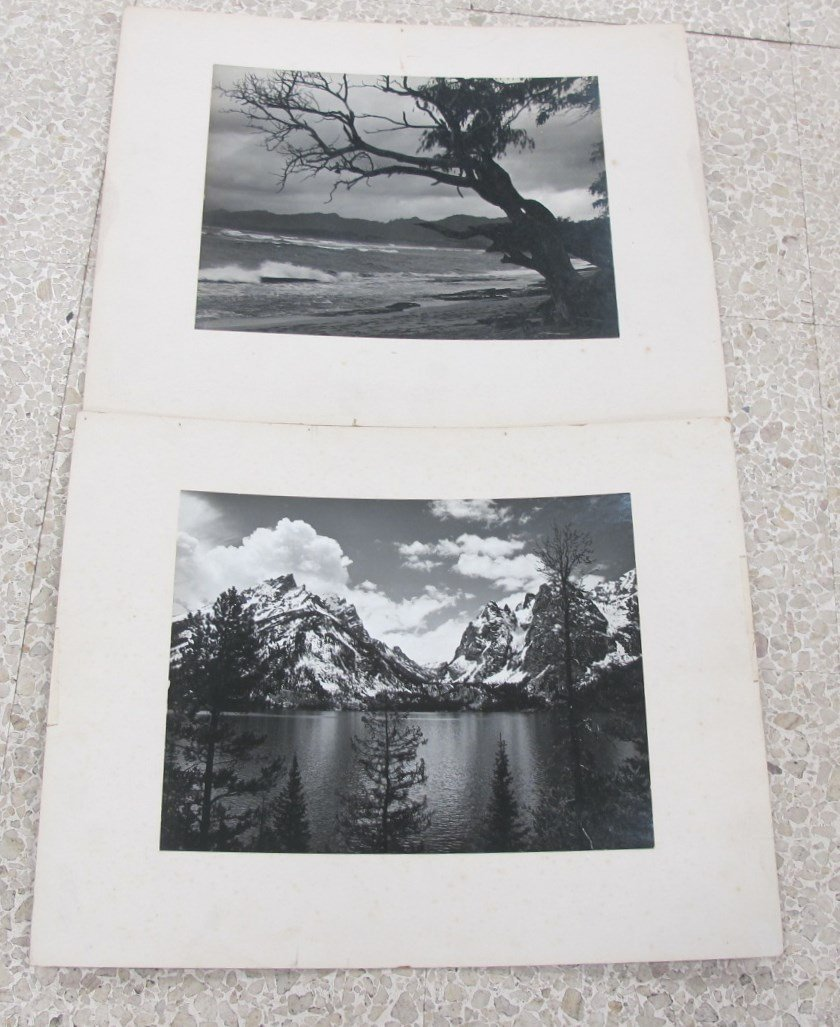 2 Original Black and White Photo's Possibly by Ansel