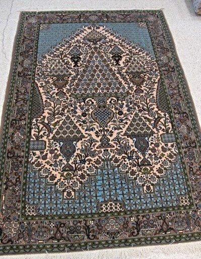 Very Fine Semi Antique Persian Qum Rug