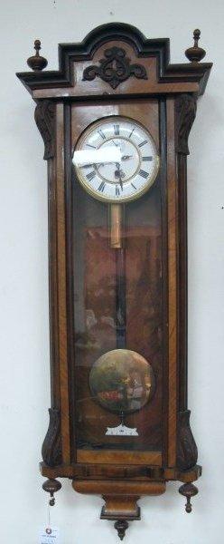 19th Century Cased Vienna Regulator Wall Clock