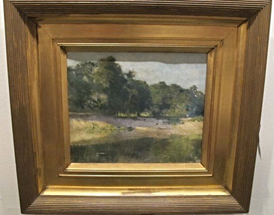The River Bank Landscape by William Langston Lathrop