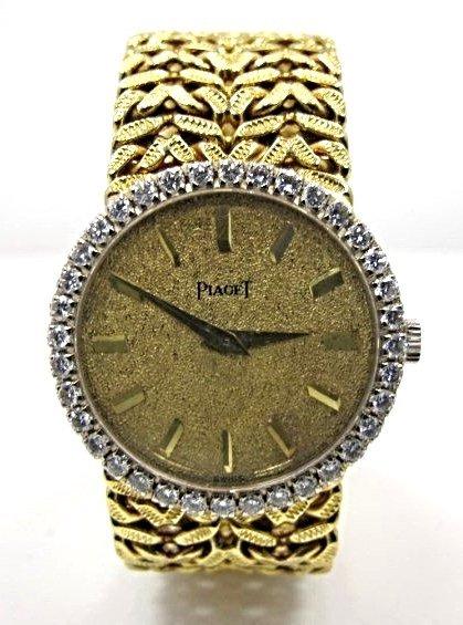 Ladies 18K Yellow Gold Diamond Piaget Wrist Watch