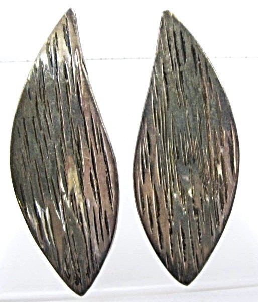 Pair Mexican Sterling Earrings, 7.19dwt