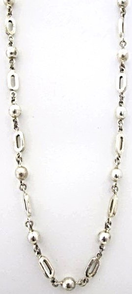 "24"" Mexican Sterling Necklace, 53.04dwt"