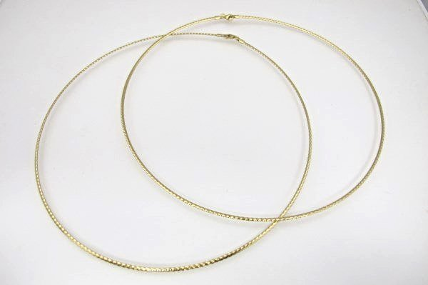 Two (2) 18K Yellow Gold Italian Wire Necklaces, 3.14dwt
