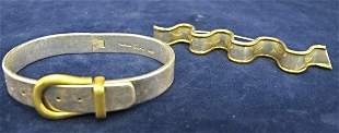 Sterling Silver Bracelet and Pin