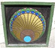 Antique Decorative Jewel Tone Stained & Leaded Glass